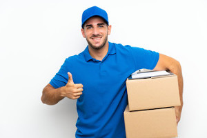 delivery guy thumbs up